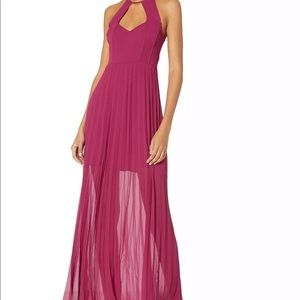 BCBGeneration Women's Pleated Maxi Dress Mulberry